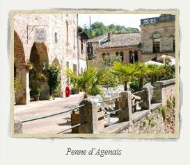 Penne d'Agenais dorp